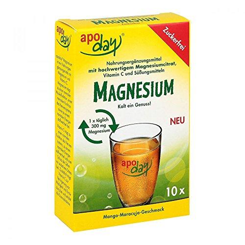 Apoday Magnesium Pulver zuckerfrei Mango-Maracujageschmack,