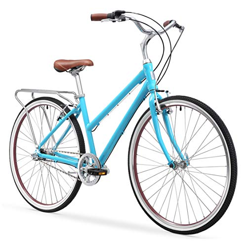 sixthreezero Explore Your Range Women's 7-Speed Hybrid Commuter Bicycle, Teal, 17' Frame/700x38C Wheels