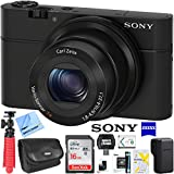 Sony Cyber-Shot DSC-RX100 Digital Camera Bundle with Sandisk 16GB Memory Card, Point and Shoot case, Compact Rubberized Spider Tripod and Accessories (5 Items)