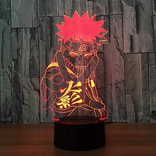 3D Illusion Light USB Acrílico 3D con luces nocturnas Avengers Superhero Tree Man Groot Figura 3D Illusion Color Lámpara de repuesto para regalo de dormitorio