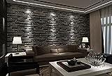 Papier peint style 3D modèle papier peint chambre salon TV fond brique brique brique...