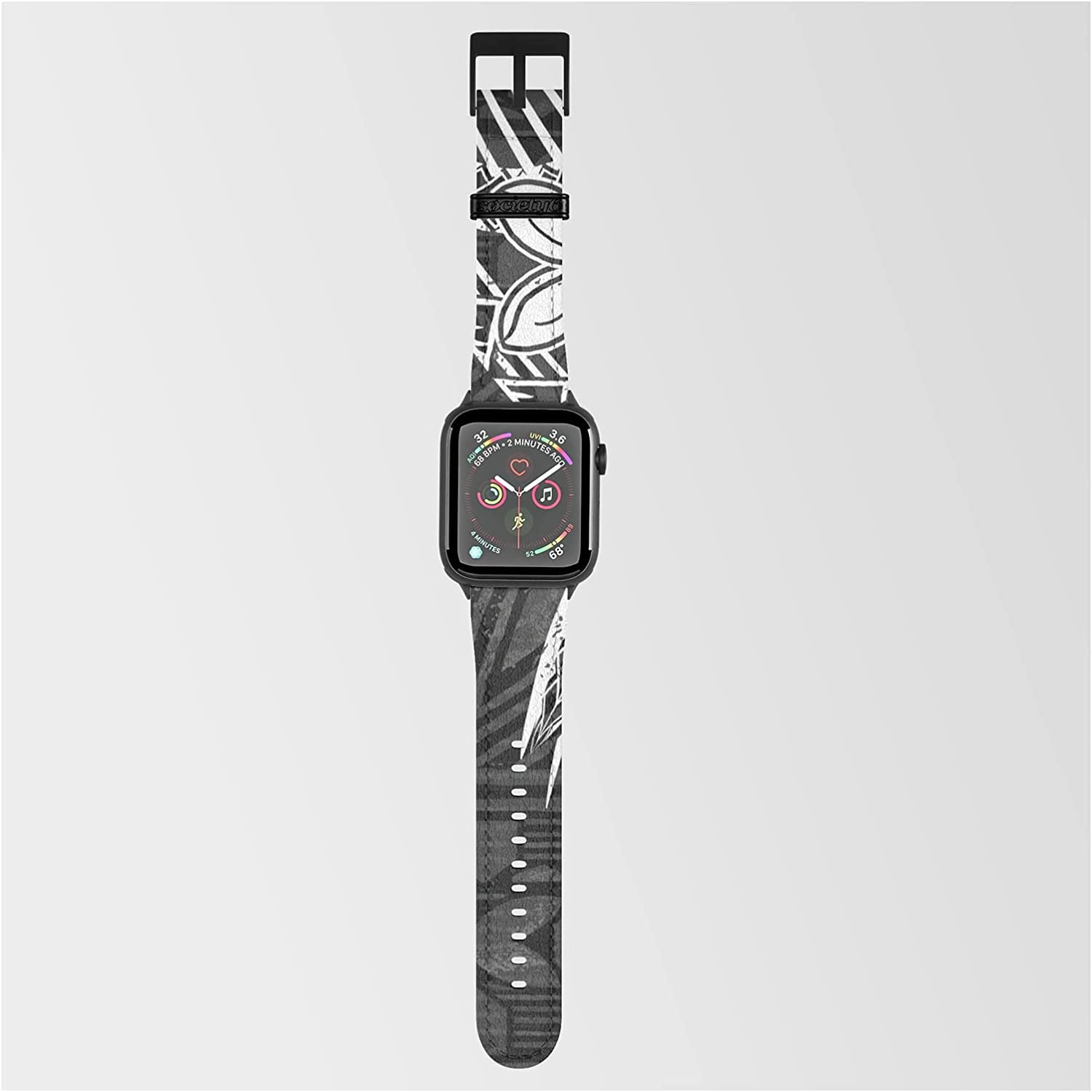 Vintage Samoan Tapa Print by Sun N Threads on Excellence Gorgeous Band Co Smartwatch