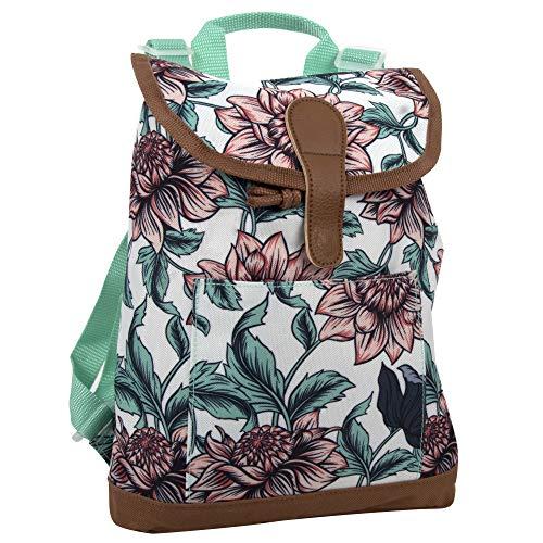 Top Loading Bucket Backpacks for Women and Girls – Front Loading Mini Backpacks, Lightweight for School, Travel, Work (Long Stemmed Roses)