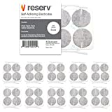 reserv 2' Round Premium Re-Usable Self Adhesive Electrode Pads for TENS/EMS Unit, Fabric Backed Pads with Premium Gel (White Cloth and Latex Free) (40 Electrodes)