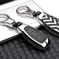 HJPOQZ 亜鉛合金車のキーカバーケース、フォードフィエスタフォーカスに適合34モンデオエコスポーツクーガフォーカスST