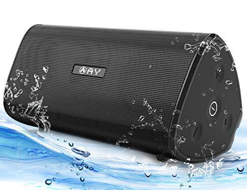 Altavoz Portátil Bluetooth 4.2 AY de 30W Impermeable IPX7,Sonido estéreo HD,Potentes con Tecnología TWS,Resistente a Golpes,Construido en Micrófono, Autonomía de 24h para Camping,Viajes,Aire Libre.
