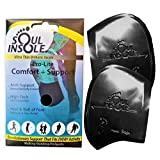 Soul Insole Shoe Bubble Orthotic Insole – Memory Gel Insoles for Plantar Fasciitis, Pronation, Heel Pain – Highly Durable Soft Memory Gel (2. Black (Thinner Support), Medium)
