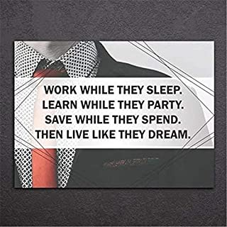 LilithCroft99 Wall Decal Sticker Art Mural Home Decor Quote Work While They Sleep Learn While They Party Save While They Spend