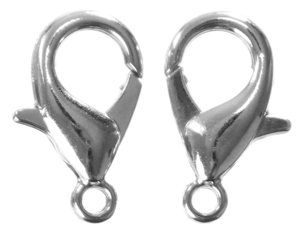 CleverDelights 500 Lobster Clasps - 12x6mm - Antique Silver (Platinum) Color
