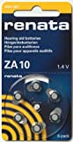 6 piles bouton ZA10 zinc-air 1,4V 100 mAh Renata