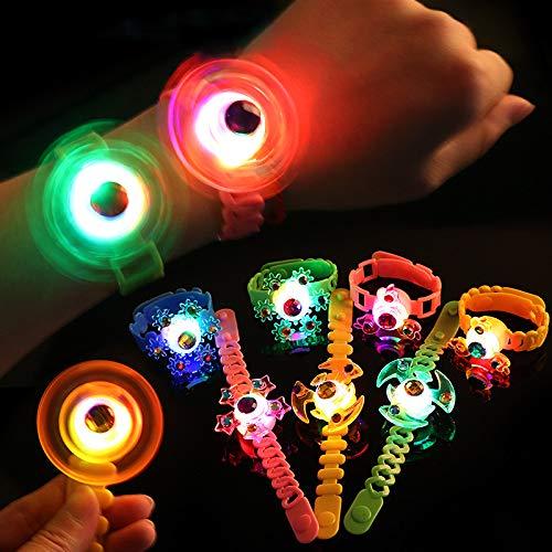 ZHAOYANG 12 Pcs LED Leuchtspielzeug Partyartikel LED Blinkleucht Armbänder, Kindergeburtstag Gastgeschenke, Jungen Mädchen Glow In The Dark Geburtstagsgeschenke Karneval Halloween Partyartikel Zubehör