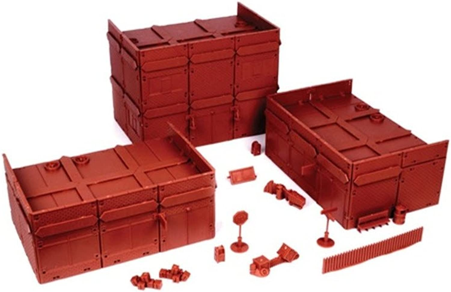 Mantic Games MGTRB05 20th Century Brick Town Centre Modular Scenery, Red