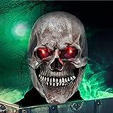 VAZILLIO Maschera di Halloween Maschera teschio LED horror Maschera per Uomini e Donne carnevale, feste a tema, Halloween, cosplay