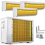 A++/A++/A++ TrioSplit Golden-Fin WiFi/WLAN-Ready 3x 3,5kW - 3x 12000 BTU MultiSplit Klimaanlage INVERTER Klimagerät und Heizung