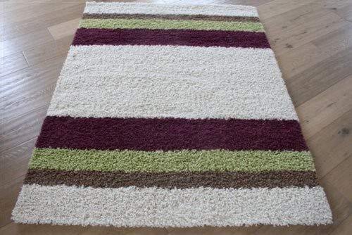 GECO Ambiente Shaggy Design-Teppich Stripes (50 x 90 cm)