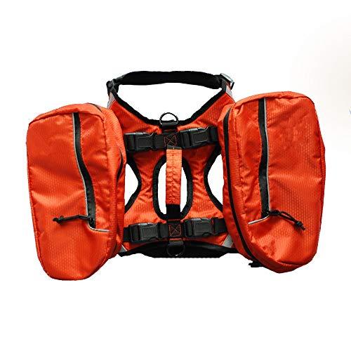 Yzibei 2 in 1 hondenrugzak met grote zakken, verstelbare dog schoudertas zadeltas harness rugzak vest voor grote honden buitenshuis speelruimte wandelen kamperen voor outdoor activiteiten