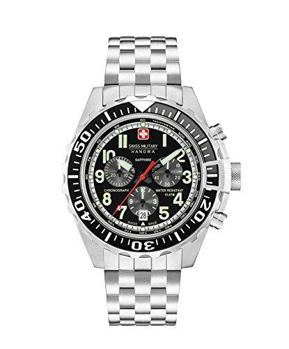 Swiss Military Herren Chronograph Quarz Uhr mit Edelstahl Armband 06-5304.04.007