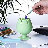 Peirich Organizador de vinilo para desmalezas, con forma de copa de vino, para herramientas y accesorios de cricut, color verde