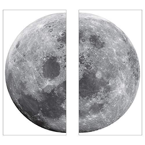 Deko Aufkleber Mond Größe: Ø 58 cm
