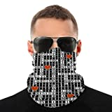 Crossword Puzzle Multifunctional Seamless Bandana Neck Gaiter Anti-UV Windproof Face Mouth Cover for Motorcycle Cycling Hiking Ski