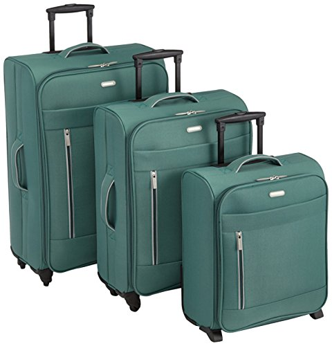 Clipper 302PE Set di 3 valigie, colore: Verde