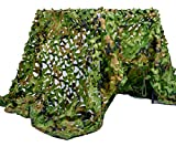 Velity Tarnnetz, Army Tarnnetz Jagd Netz Sonnenschutz Camouflage Netz, für Camping Waldlandschaft Garten Party Dekorationen (Woodland, 1 x 2)