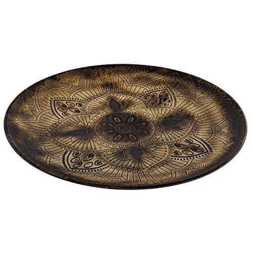 Bandeja Decorativa Mandala Vintage, Bandejas de Almacenamiento Madera. Decoración de Mesa 49,5X49,5X4cm - Hogar y Más