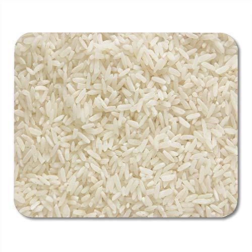 Mauspads Getreide Weiß Langer Reis Ungekochtes Rohgetreide Makro Nahaufnahme Mauspad für Notebooks, Desktop-Computer Matten Büromaterial