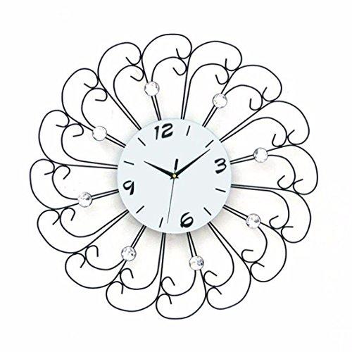Wall Clock WERLM creatieve wandklok ijzer kunst tabel tekenen mute-klok tabel geschikt voor thuis kantoor keuken scholen zijn ideaal voor elke ruimte