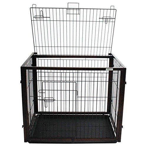 Cage de transport Simply Slide, pour chien, en bois, avec fonction Slide