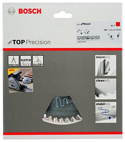 Bosch Pro Kreissägeblatt Top Precision Best for Wood zum Sägen in Holz für Tauch- und Handkreissägen (Ø 165 mm) - 2