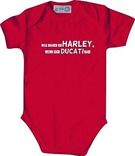 Unbekannt Lustiger Baby Body mit Druck/was Brauch Ich Harley, Wenn Isch Ducati Hab! / Viele Farben/Größen von 50 bis 92
