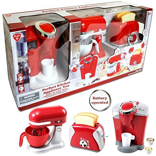 PlayGo Mixer Toaster Kaffeemaschine Geräte Trio für Spielküche