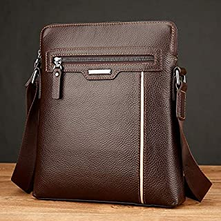 QGTAU Bags 18072 Men Business Leisure Style PU Leather Single Shoulder Bag (Black) (Color : Brown)