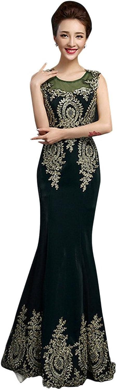 Vimans reg; Long Scoop Neck Lace Appliques Mermaid Gowns Formal Dress for Women