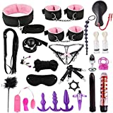 DaJun 26PCS Couples Sex Game Tools, S&M Game Tools Kit, Adjustable Bed Game Play Set Toys for Women Men