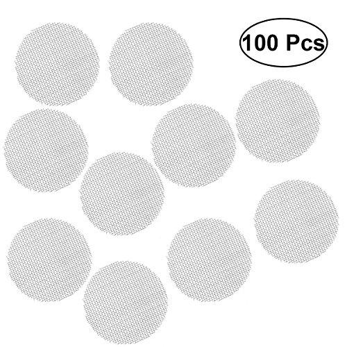 BESTONZON Filtri da fumo in acciaio inox da 100 pezzi Filtri per schermo (argento)