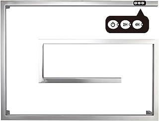 HUIJIN1 Toallero electrico INOX, con Temporizador Incorporado Curvo radiador toallero electrico baño, 65W Energía eficiente para familias y hoteles de lujo31.5 * 23.6 * 4.7In,Plug in,1/2h