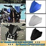 AHOLAA Alluminio CNC Parabrezza Cupolino per Accessori Motociclo MT15 MT125,Deflettore del Vento Visiera del Parabrezza per Yamaha MT-15 MT-125 2019 2020 2021 (Blu)