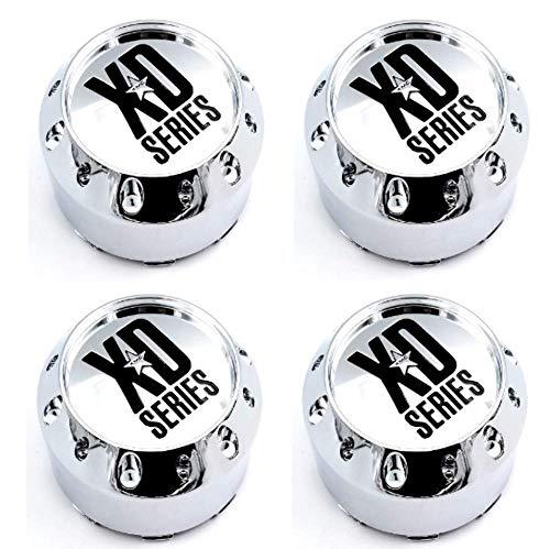 4x KMC XD Series Chrome Wheel Center Hub Caps 4-1/8'OD Snap-In for 6x5.5 6x139.7 5x5.5 5x139.7 5x150 6x4.5 6x114.3 6x135 XD779 Badlands XD795 Hoss