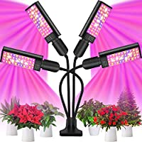 AAPOZZ 4 Head 96W LED Adjustable Grow Light for Indoor Plants