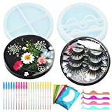 Eyelash Case Mold for Resin,False Eyelash Holder Silicone Casting Mold with Eyelash Perm Kit for DIY Fake Lashes Box,Container,Travel,Home Decoration,Crafts,Lash Lifts