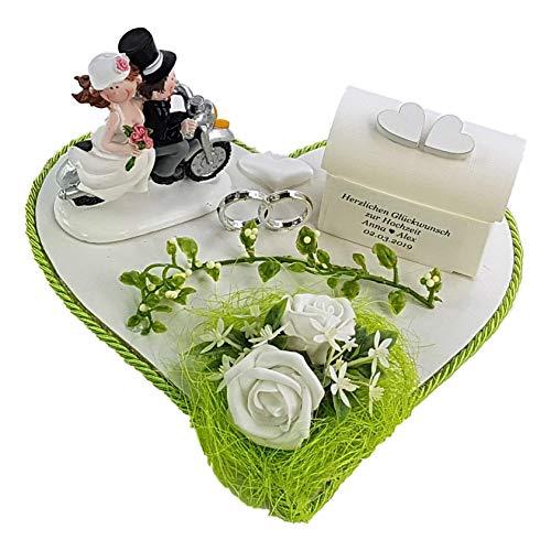 Der-kleine-Dekoladen Geldgeschenk zur Hochzeit Motorroller Motorrad Roller grüne Hochzeit Geld verschenken Flitterwochen