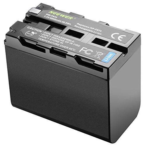 Neewer reg 6600mAh Li-Ion Batería, batería de reemplazo para Sony NP-F970 NP-F960 NP-F975 NP-F570 NP