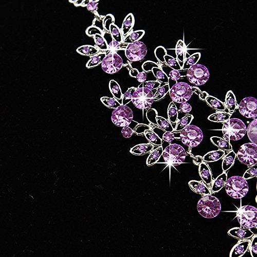 HINK Prom Wedding Bridal Jewelry Crystal Rhinestone Necklace Earring Sets PP Earrings Jewelry & Watches For Woman Valentine Easter Gift