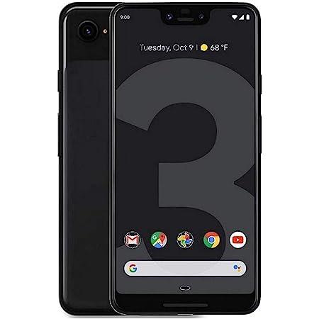 Google Pixel 3 (64GB, 4GB RAM) 5.5 QHD+, IP68 Water Resistant, Snapdragon 845 GSM/CDMA Factory Unlocked (AT&T/T-Mobile/Verizon/Sprint) (Just Black, 64GB)
