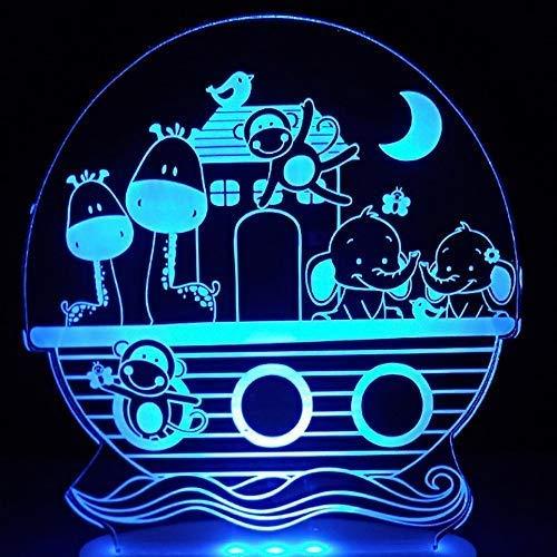 Nieuwigheid 3D Led Visuele Creatieve Slaap Licht Armatuur Cartoon Dier Lampara Nachtlampje USB Touch Aap Bureau Lamp Kinderen Geschenken