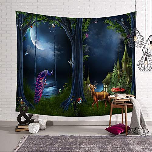 mmzki Nordic hängen Kunst Wandteppich Wandteppich Dekoration Wandbilder schöne Landschaft LS-WMFJ002 200x150