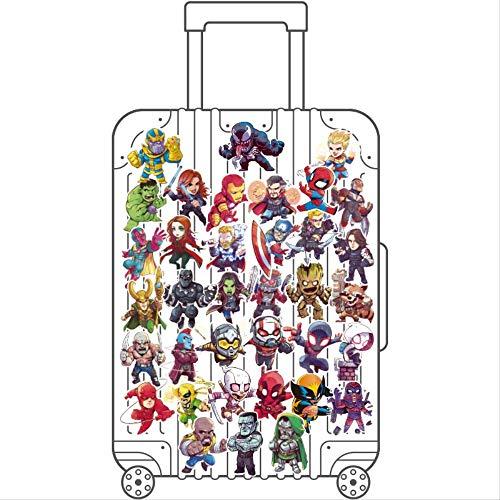 ZAQQ Marvel Hero Avengers Union Suitcase Sticker Raytheon Iron Man Notebook Suitcase Sticker Waterproof