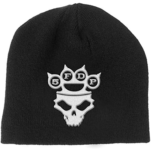 Five Finger Death Punch Beanie Hat Knuckleduster Band Logo Skull Official Black Size One Size